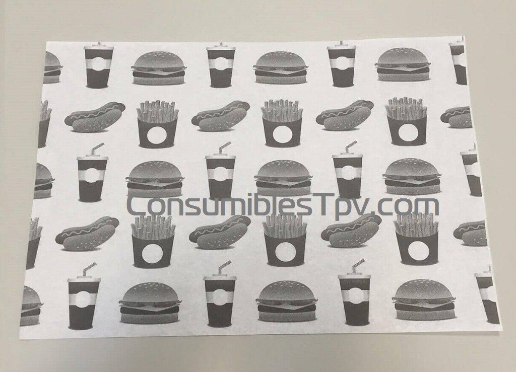 Papel hamburguesas para envolver 22x33 antigrasa 1000 uni for Papel pintado imitacion periodico
