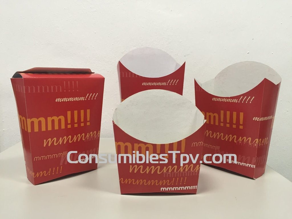 Envase Grande De Cart 243 N Para La Venta De Patatas Fritas