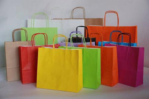 a62d61ce8 Precios de bolsas de papel con asa rizada medidas 18+8X24