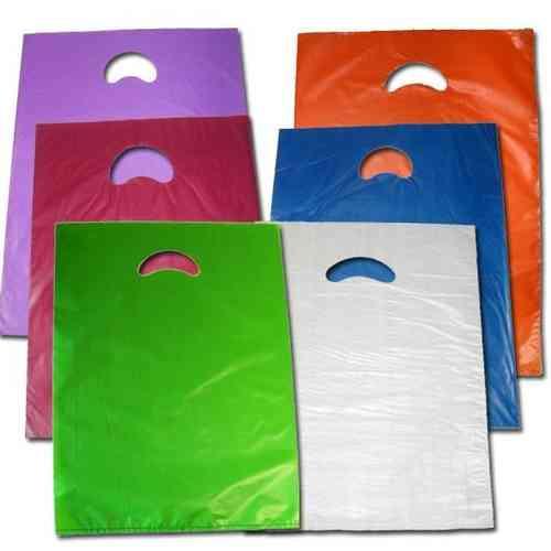 14c399482 Venta de paquetes de bolsas de plastico de colores con asa