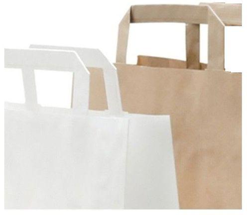 d3f828346 Bolsa de papel con asa plana para comercios de 27 + 12 x 37